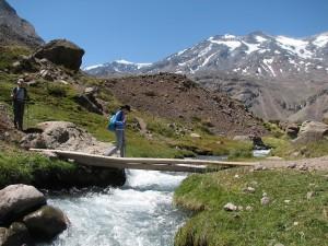 Wanderung im Cajón de Maipu nicht weit von Santiago (Foto: Stefan Vehoff)