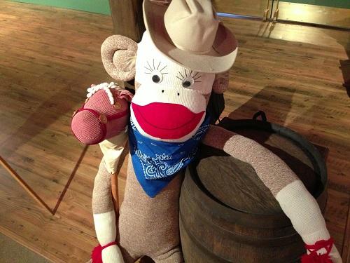 Ein Cowboy Sock Monkey (Foto: Rockford Area CVB)