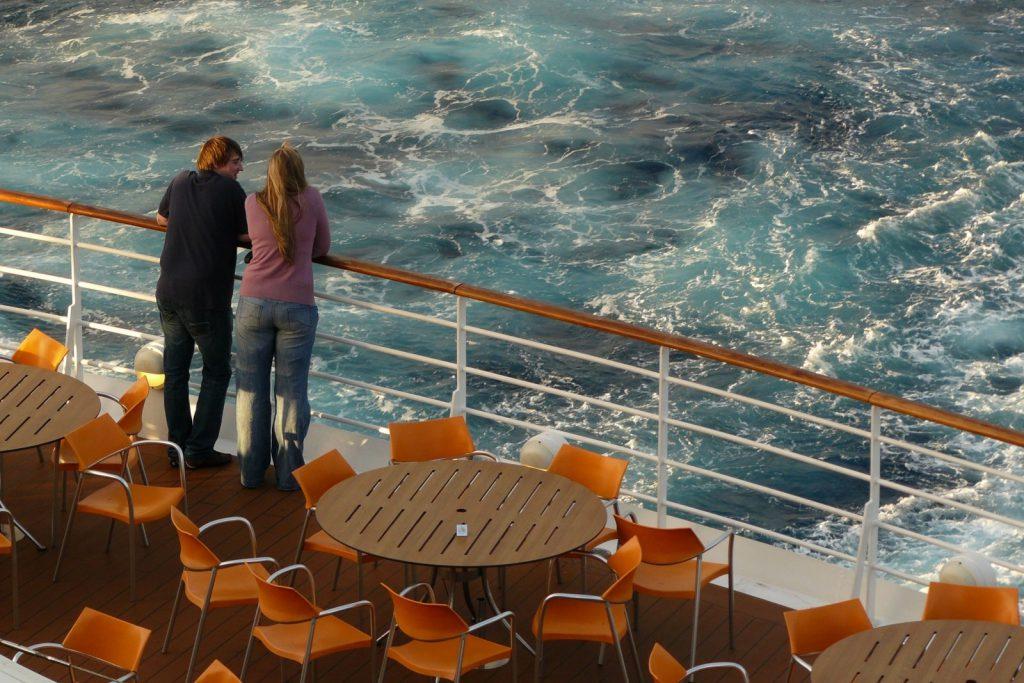 An Bord eines Kreuzfahrtschiffs