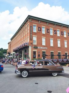 DeSoto House Hotel and car
